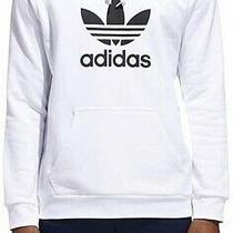 Adidas Mens Sweatshirt White Size Medium M Pullover Logo Printed Hoodie 65 289 Photo