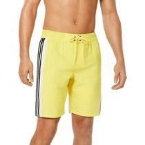 Adidas Mens Swimwear Yellow Size 2xl Hoopshot 3-Stripe Trunks Shorts 34 026 Photo