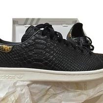 Adidas Mi. Stan Smith (Originals) Size 10 Black Croc Leather Photo