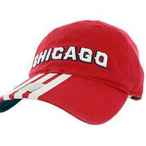 Adidas Mls Chicago Fire 3-Stripes Adjustable Hat Photo