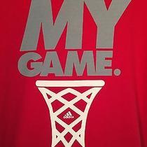 Adidas My Game Basketball Red Silver White Womens Xl Tshirt Photo