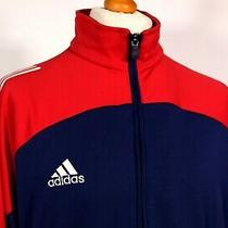 Adidas  Navy/red Polyester Track Jacket - L/xl - 80's Casual Ska Mod Scooter  Photo
