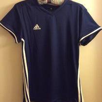 Adidas Navy Women's Polyester Shirt Sz S. Nwt. Photo