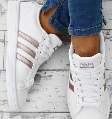 adidas white and rose gold sneakers off 60% icrating.se