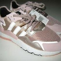 Adidas Night Jogger Originals Running Shoes Ee5908 Rose Gold Womens Size 10 Nwob Photo