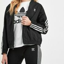 Adidas Originals 3 Stripes Woven Lock Up Full Zip Track Top Ladies Size 20 Photo