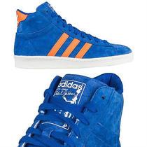 Adidas Originals Ao Hook Shot Jabbar Hi Blue Orange Sz 10.5 New York Knicks Mets Photo