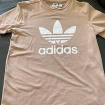 Adidas Originals Blush Pink Logo Graphic T-Shirt Women's Size L (Fits Medium) Ex Photo