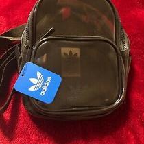 Adidas Originals Clear Tinted Black Mini Backpack Translucent Plastic Festival Photo