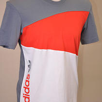 Adidas Originals Men's Modern Prep T-Shirt Core Energy Red / Lead Gray / White M Photo