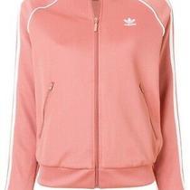 Adidas Originals Pink Blush Track Jacket Top Coat Sport Stripe Size 10 Photo