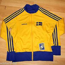 Adidas Originals Reversible 2 in 1 Sweden Sverige Track Top Cool Deadstock 10  Photo