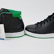 Adidas Originals Stan Smith Mid Black/green/ White Sz 9.5 Photo