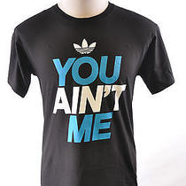 Adidas Originals Trefoil You Aint Me Cotton T-Shirt Black Blue White  2xl Photo