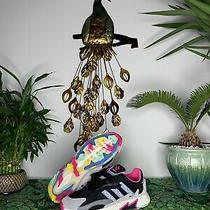 Adidas Originals Tresc Run Boost Men's Running Shoes Black/pink/blue Sz 10.5 Photo