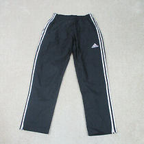 Adidas Pants Adult Medium Black White Track Pants Stripes Track Casual Mens A37 Photo