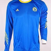Adidas Performance Men's Boston Marathon 2013 Long Sleeve Running Shirt Blue  Xl Photo