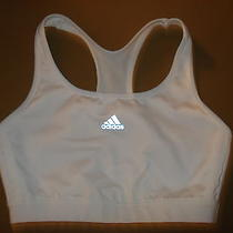 Adidas Racerback Wireless Sports Bra White Size Medium  Photo