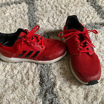Adidas Rapid Run Kids Casual Running Athletic Shoes Red Black Boys Size 13.5 Photo