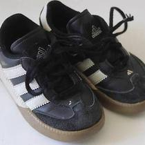 Adidas Samba Boy's Girl's Soccer Shoes Millenium Black Sz 7 New Free Ship Photo