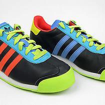 Adidas Samoa Oddity Mens 7 Womens 9 Black Warning Beon Blue G66840 Neon Photo