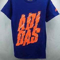 Adidas Slash Graphic Name Orange Blue T-Shirt S Photo