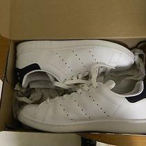 Adidas Stan Smith Size 9 White W/ Navy Blue Photo