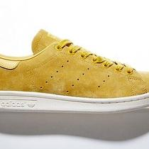 Adidas Stan Smith Suede Yellow Spice Gold 11.5 Sneakers New Photo