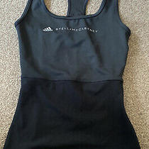 Adidas Stella Mccartney Logo Black Vest Top 2xs New With Tags on 24inch Chest Photo
