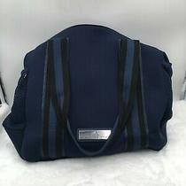 Adidas Stella Mccartney Women's Tennis Bag Collegiate Navy Aero Lime Black  Photo