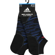 Adidas Superlite Speed Mesh 2-Pack No Show Socks Adult One Size (6-12) Blue Low Photo