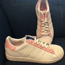 Adidas Superstar J Size 6.5 Youth  Size Pink White Fuscia Bottom Nwt Photo