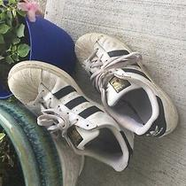 Adidas Superstar Mens Size 7.5 Sneakers Shoes  White Black  Leathershell Toe Photo