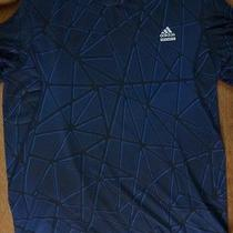 Adidas Tech Fit Climalite Fitted Fractured S/s Shirt Xl Photo