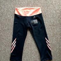 Adidas Tights M Sport Fitness Yoga Gym Running Pants Capri Leggings Peach New Photo