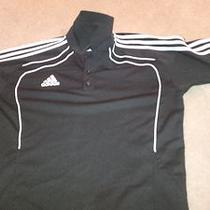 Adidas Tiro Soccer Coach Polo Mens Size Large Black Climacool Photo