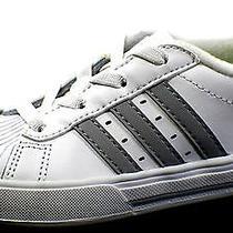 Adidas Toddler Boy Bbneo Classic Shell Toe Sneakers White/gray Us Size 8 Eu 24 Photo