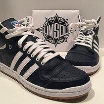 Adidas Top Ten Hi Navy Blue White Gum Sole D65162 Sz 10.5 Photo
