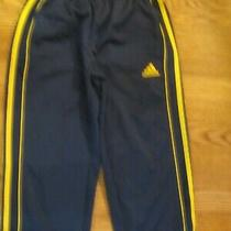 Adidas Track Pants With Front Pockets 10/12 Navy With Gold Stripe Euc Photo