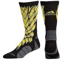 Adidas Traxion Impact Shockweb Crew Socks Xl 12-16 Black/yellow Photo