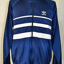 Adidas Trefoil Arnel 1970-80's Vintage Track Jacket Tracksuit Run Dmc Usa Large Photo