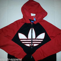 Adidas Trefoil Fz Hd Full Zip Hoody/hoodie Red/black/white Jacket Mens Xl Photo