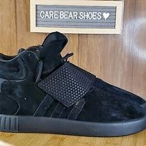 Adidas Tubular Invader Strap Mens Leather Athletic Shoes Size 10.5 Black Bb1169 Photo