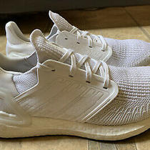 Adidas Ultraboost 20 Triple White Running Shoes Eg0713 Women Size 8.5 Photo