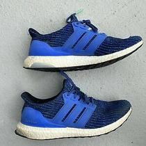 Adidas Ultraboost Blue Running Shoes Rare Pre-Owned in Great Shape Size 11.5 Photo