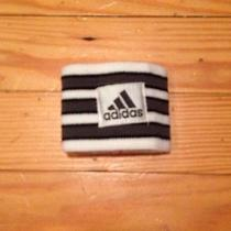 Adidas Unisex Wrist Sweatband Black and White Stripes Photo