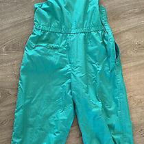Adidas Vintage 90's Bib Overalls Jumpsuit Teal  Womens Size 44 (Medium) Photo