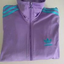 Adidas Violet Purple Track Jacket Retro Original  Womens  Small  Photo