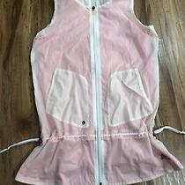 Adidas White and Pink Active Vest Size Small Photo