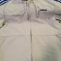 Adidas Windbreaker Hooded Jacket Large Photo